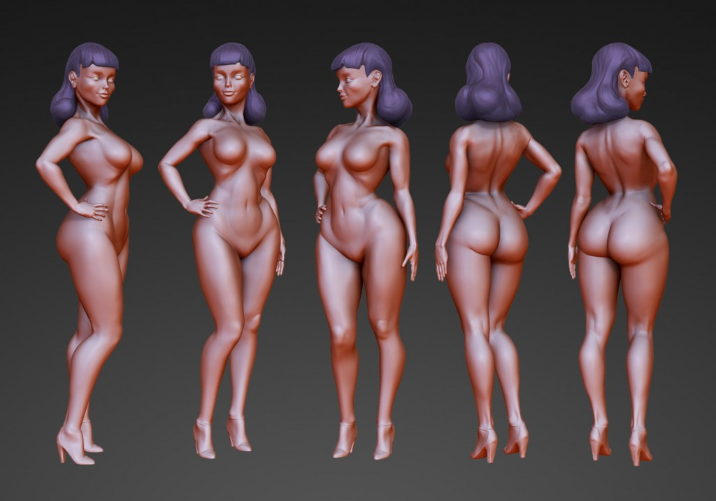 Female forms quick sculpt study