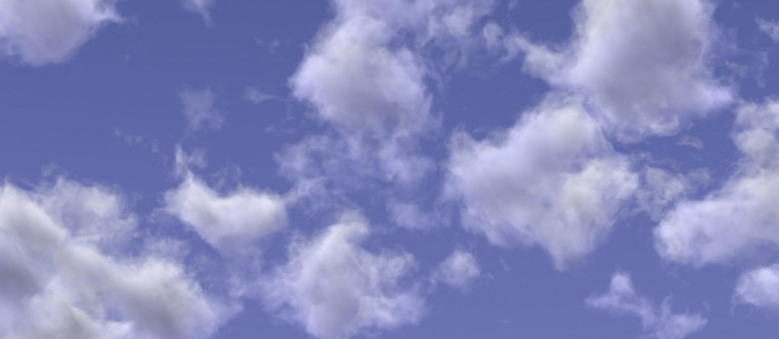 Procedural volumetric clouds in Blender Eevee and Cycles